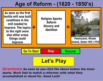 Age of Reform in American History - Bill Burton