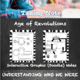 Age of Revolutions (American, French, Latin) Guided Graphic Doodle Notes