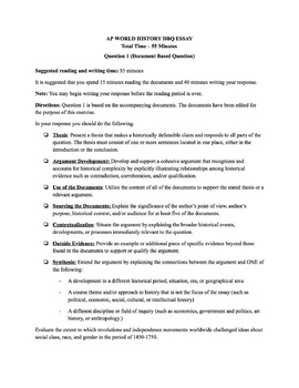 Age of Revolutions DBQ Assessment