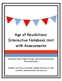 Age of Revolutions Interactive Notebook Unit