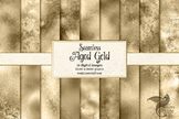 Aged Gold Digital Paper, seamless distressed grunge gold m