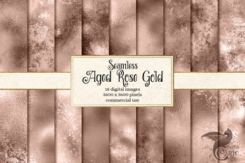Aged Rose Gold Textures