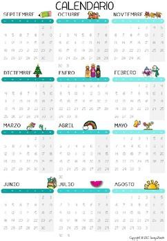 Agenda 2017 - 2018 Spanish Teacher Planner