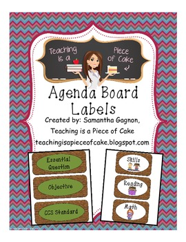 Agenda Board Labels