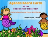 Agenda Board Cards for the Beach Lovin' Classroom
