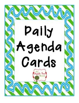 Agenda Schedule Cards