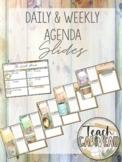 Agenda Google Slides  | Coffee + Clipboard