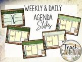Agenda Google Slides | Coffee Shop Themed