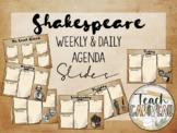 Agenda Google Slides | Shakespeare