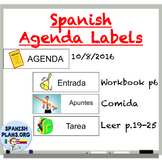 Agenda Labels for Spanish Class