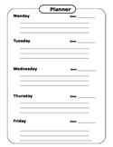 Agenda Planner Weekly Worksheet
