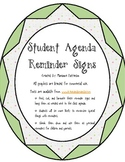 Agenda Reminder Signs