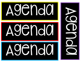 Daily Schedule or Agenda Cards