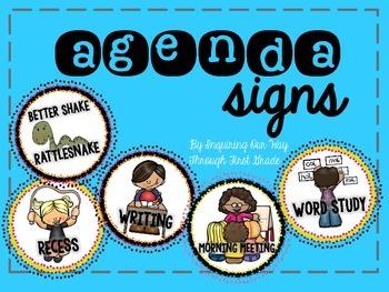 Daily Agenda Circle Signs