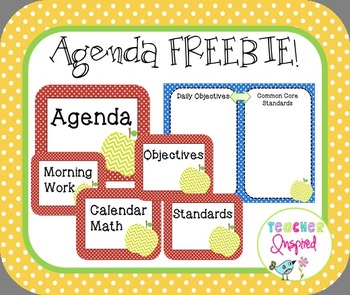 Agenda Signs and Poster