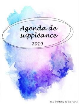Agenda de suppléance Avril - Juin 2019