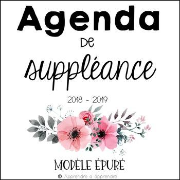 Agenda de suppléance (épuré)
