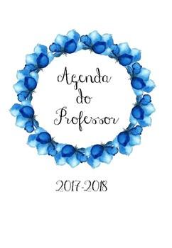 Agenda do Professor 2017-2018 com flores
