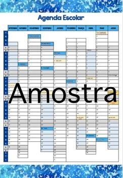 Agenda do professor de 1.º CEB 2017-2018 - Caderno Azul Vintage