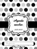 Agenda escolar 2018/2019 en blanco y negro
