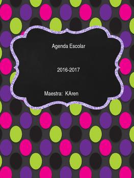 Agenda escolar editable