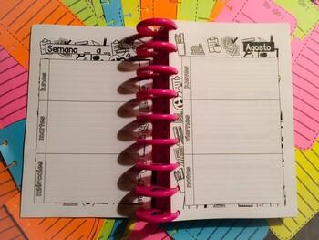Agenda escolar mes Agosto