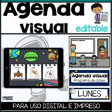 Agenda visual Programa de clases | First Then Board & Visual Schedule in Spanish