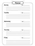 Agenda/Planner Weekly Worksheet