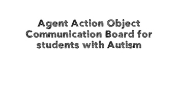 Agent Action Object Communication Board