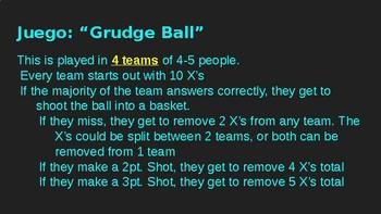 """Agentes Secretos: Ch. 5 Review Game """"Grudgeball"""""""
