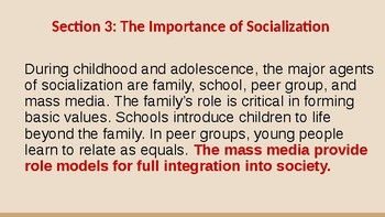 Agents of Socialization Ch 4 Section 3