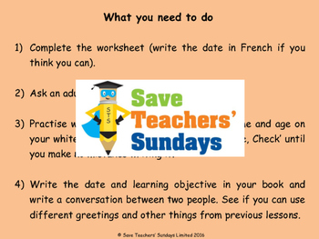 Ages in French Lesson plan, PowerPoint (with audio), Cards & Activity
