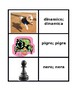 Aggettivi (Italian Adjectives) games:  Concentration, Slap