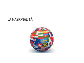 Aggettivi di nazionalità