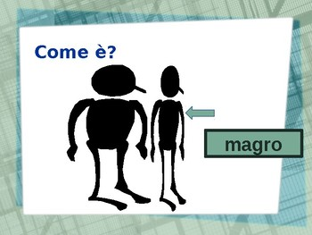 Aggettivi opposti (Italian Adjectives) PowerPoint