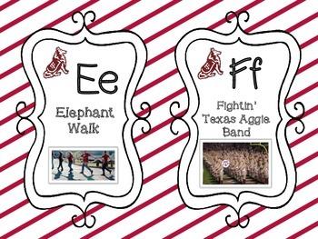 Aggies Gig 'Em Alphabet Cards