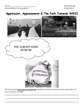 Aggression, Appeasement, & The Path Towards World War II