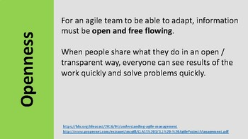 Agile values