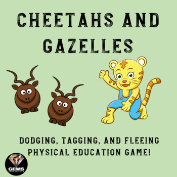 Agility: Dodging and Fleeing Physical Education Game!  Cheetahs and Gazelles