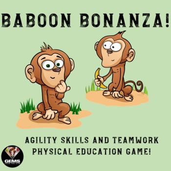 Agility/Teamwork Physical Education Game!  Bongos,Rhinos,Baboons and Bonobos