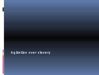 Agitation over Slavery Power Point