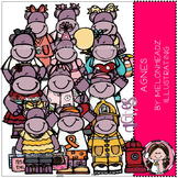Hippo clip art - Agnes - COMBO PACK - by Melonheadz