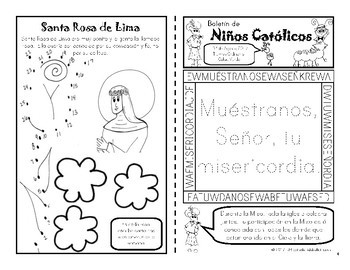 Agosto 2017 Catholic Kids Bulletin