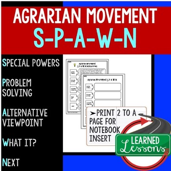 Agrarian Movement S-P-A-W-N Activity