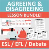Agree Disagree - Debate Arguments - PowerPoint Lesson Bundle - EFL ESL