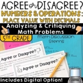 Error Analysis Place Value Word Problems   Agree Disagree
