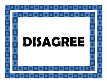 Agree-Disagree Wall Signs