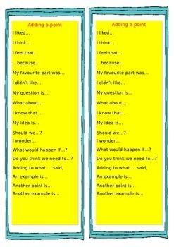 Talk agree/disagree bookmark