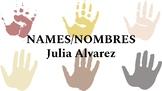 Agree or Disagree Activity for Names/Nombres by Julia Alvarez