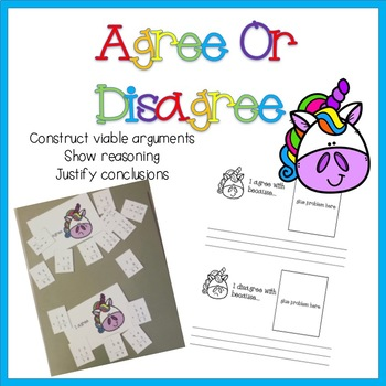 Agree or Disagree Two Digit Addition with Regrouping (explaining math reasoning)